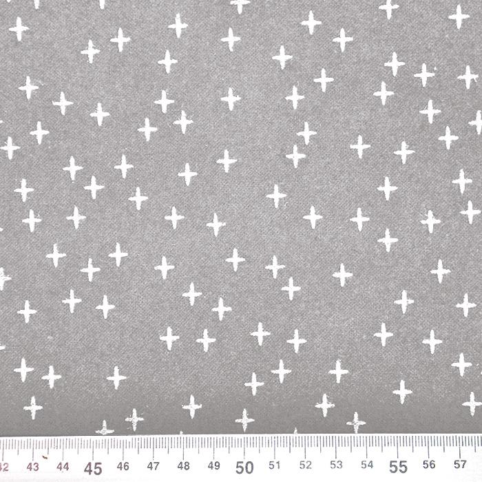 Flanela, bombaž, geometrijski, 19727-052, sivo bež