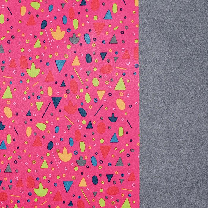 Softshell, velur, tisk, 19789-017, roza
