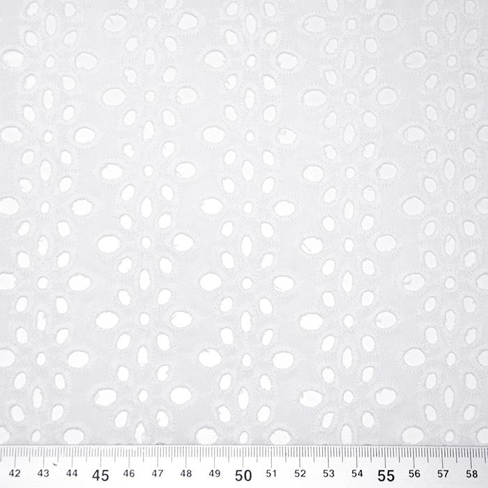 Bombaž, rišelje, cvetlični, 19812-350, bela