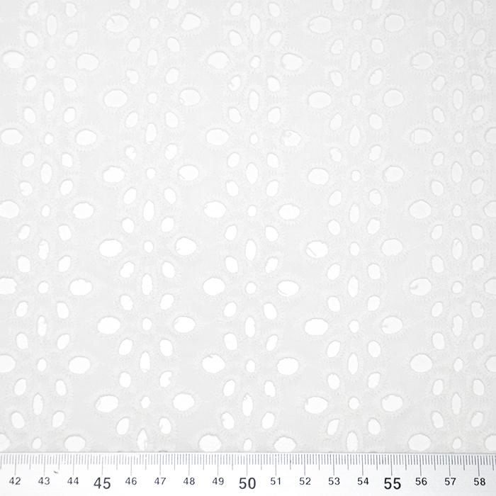 Bombaž, rišelje, cvetlični, 19812-351, smetana