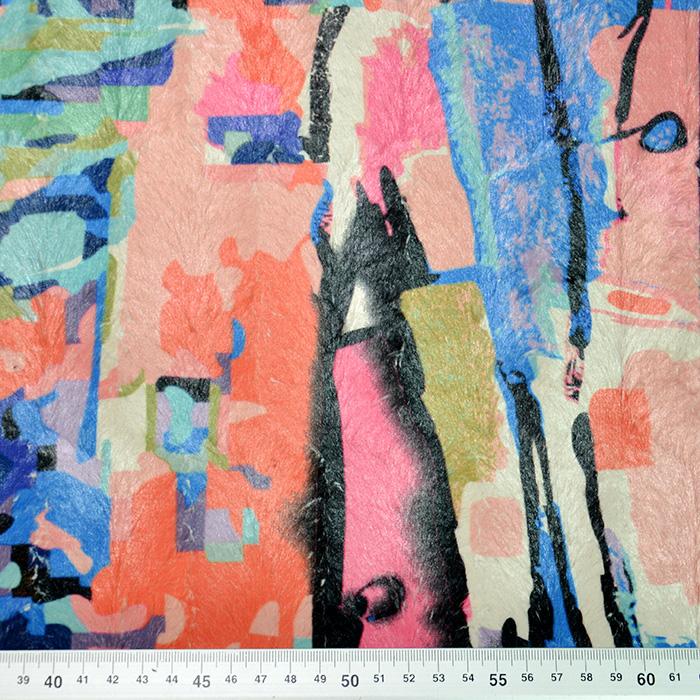 Umetno krzno, kratkodlako, abstraktni, 19849-0801