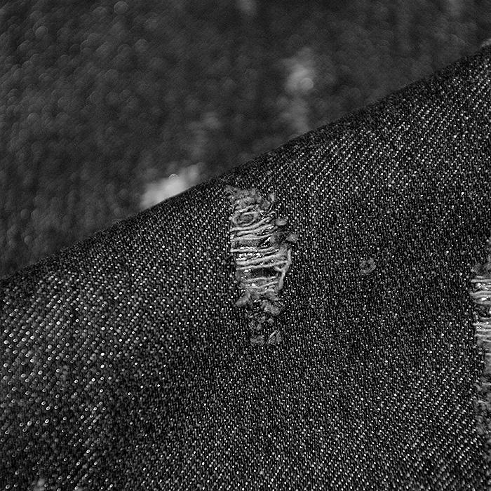 Jeans, raztrgan, 19873-069, črna