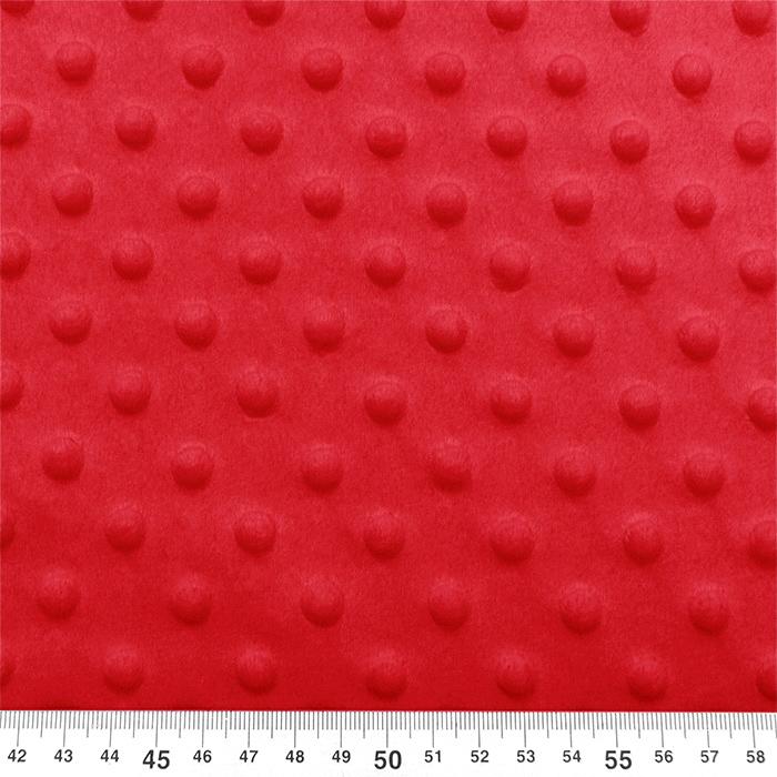 Velur coral, Minky, 19877-015, rdeča