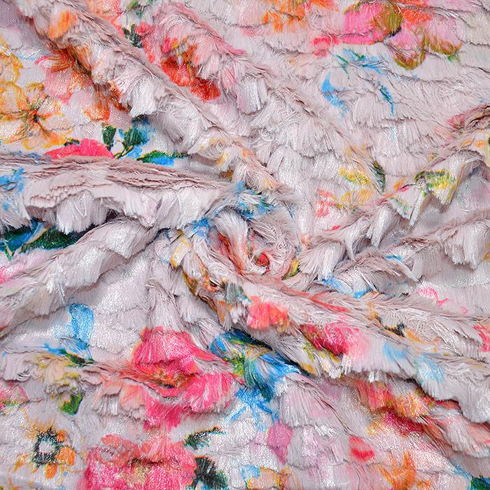 Krzno, umetno, kratkodlako, cvetlični, 19915-001