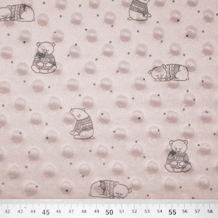 Velur coral, Minky, medvedki, 19880-092, roza