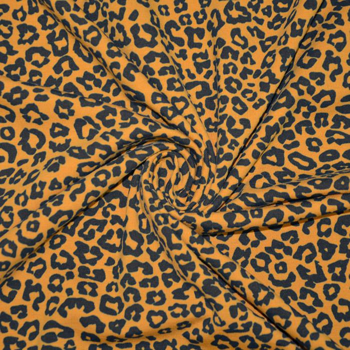 Jersey, bombaž, živalski, 19981-63237, oker