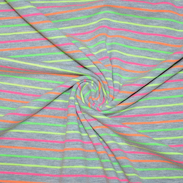 Jersey, bombaž, črte, 19941-001, neon