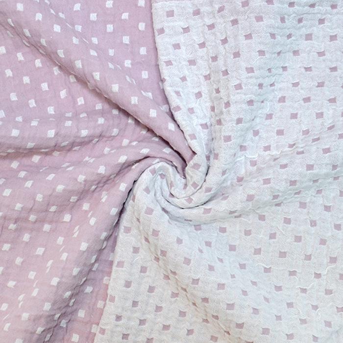 Tetra tkanina, obojestranska, geometrijski, 19946-004, roza bela