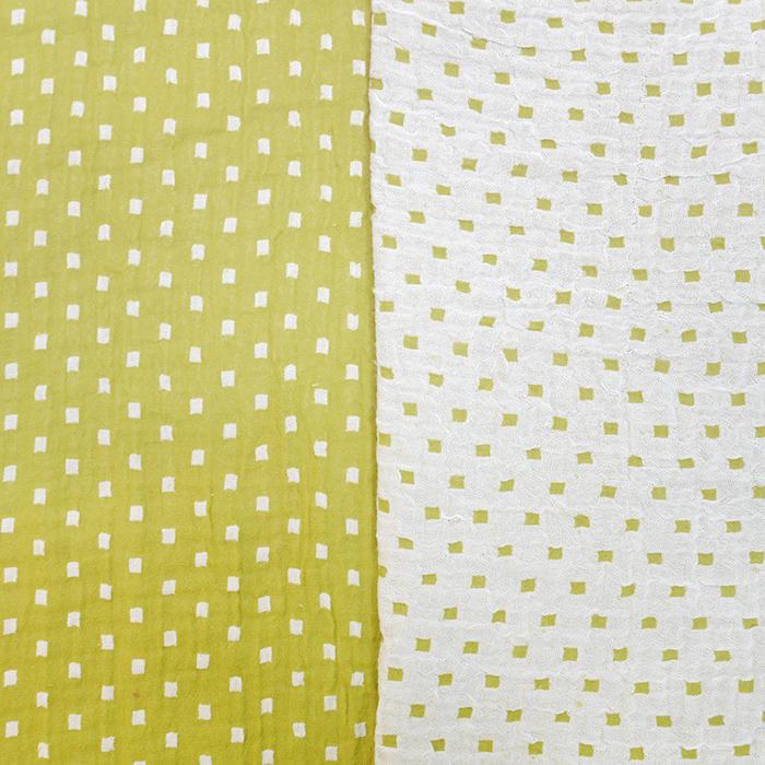 Tetra tkanina, obostrana, geometrijski, 19946-002, žuto-bijela