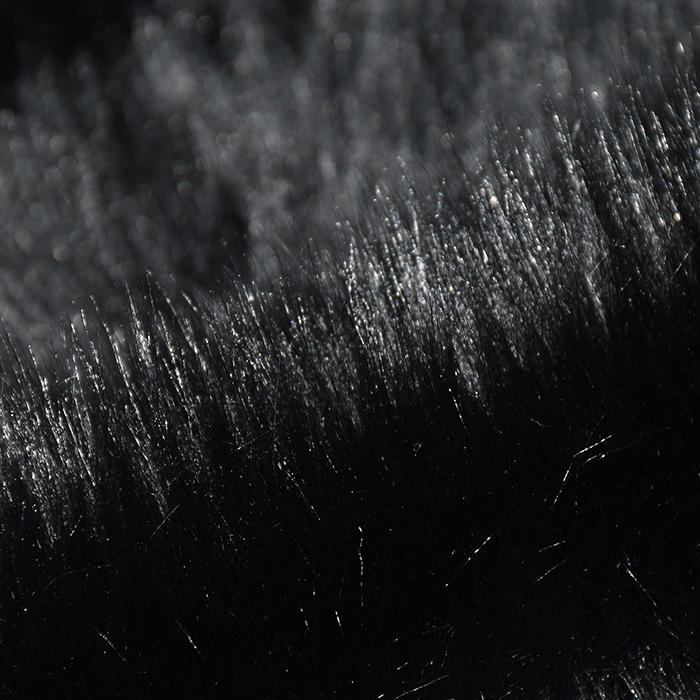 Krzno, umetno, dolgodlako, 19948-005, črna