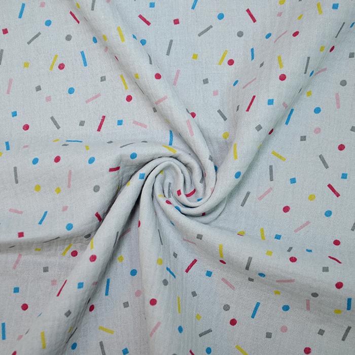 Tetra tkanina, dvojna, tisk, 19955-002, siva