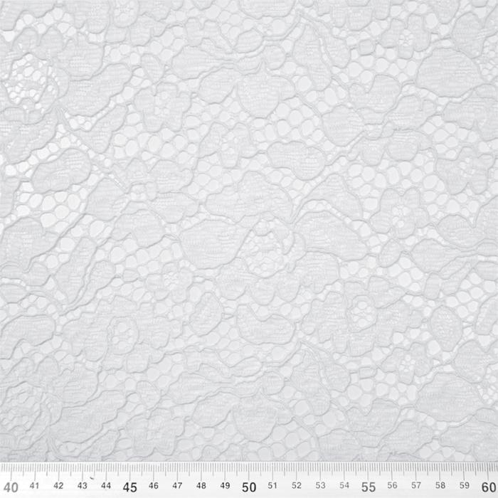 Čipka, cvetlični, 19967-016, bela
