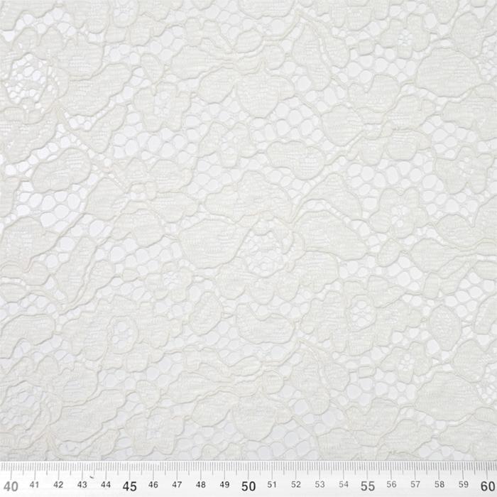 Čipka, cvetlični, 19967-014, smetana