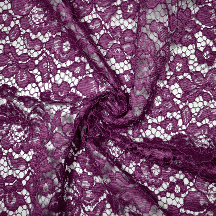 Čipka, cvetlični, 19967-025, vijola