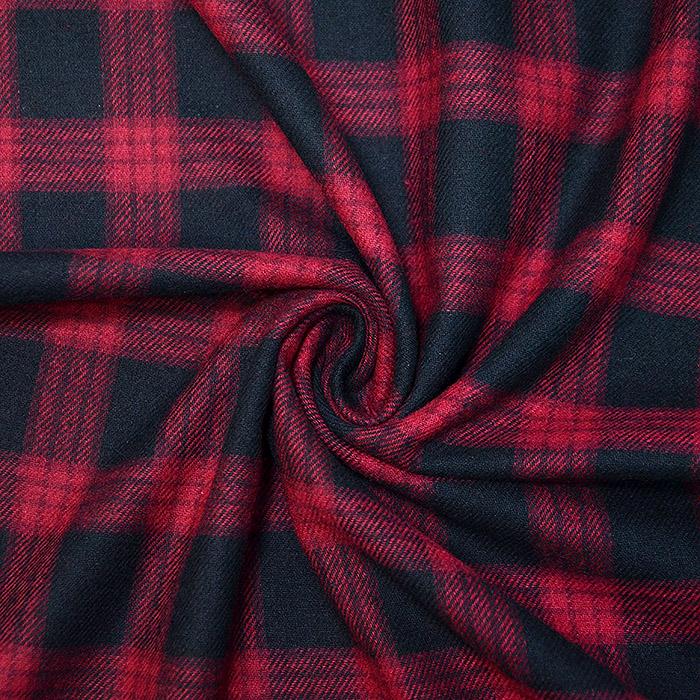 Flanela, kare, 19990-0801, rdečo črna