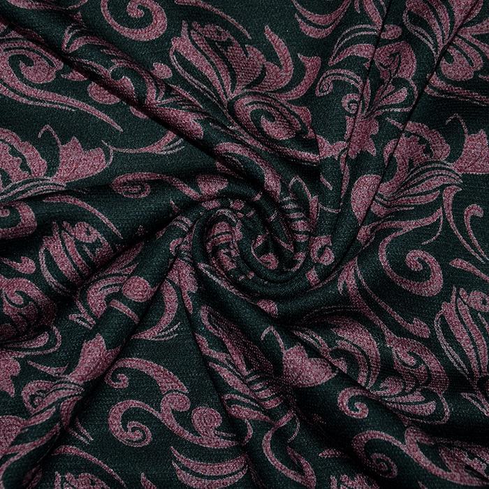 Pletivo, gosto, ornamentni, 19998-013, bordo