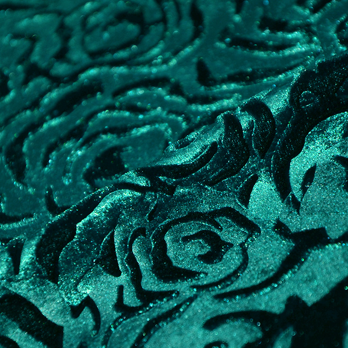 Pliš, cvetlični, 19996-128, zelena