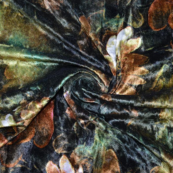 Pliš, poliester, cvetlični, 20018-037