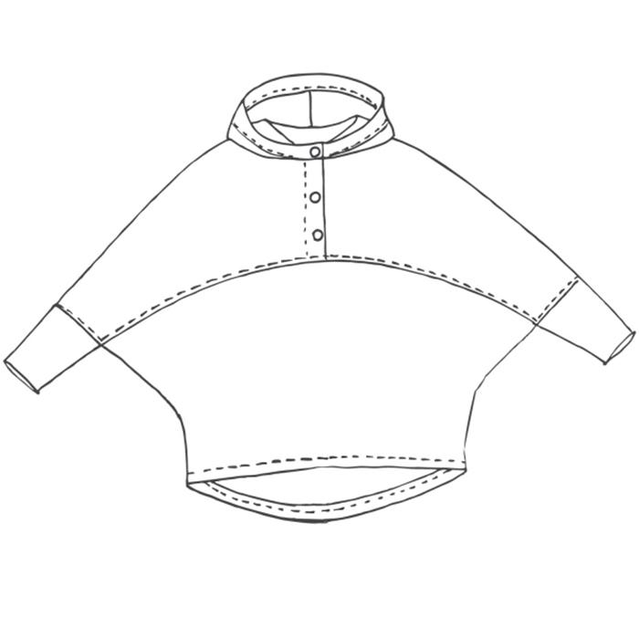 Kroj, pulover s kapuco, 20051-K4