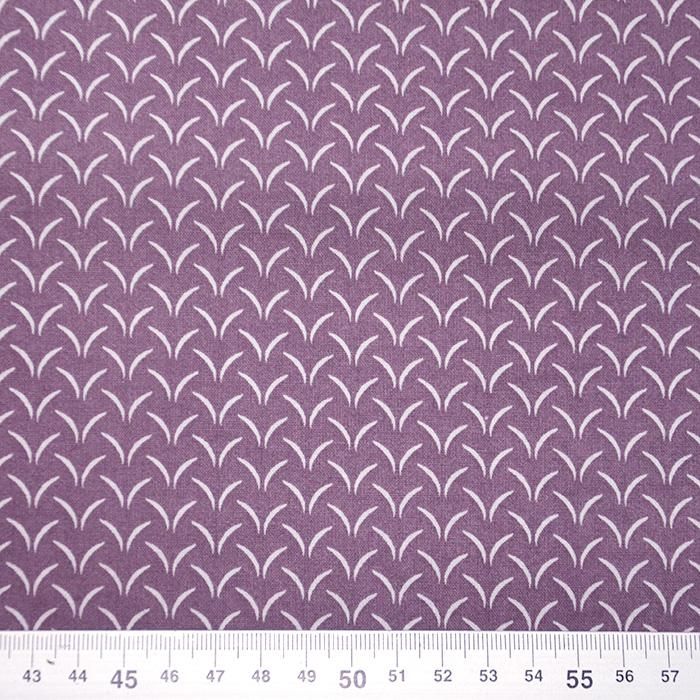 Bombaž, poplin, tisk, 20056-3, vijola