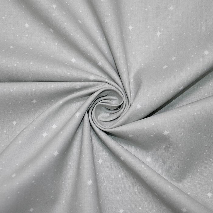 Pamuk, popelin, zvjezde, 20065-2, siva