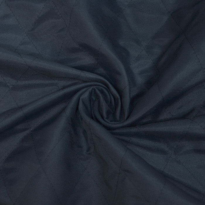 Prošiven materijal, karo, 20076-06, tamnoplava