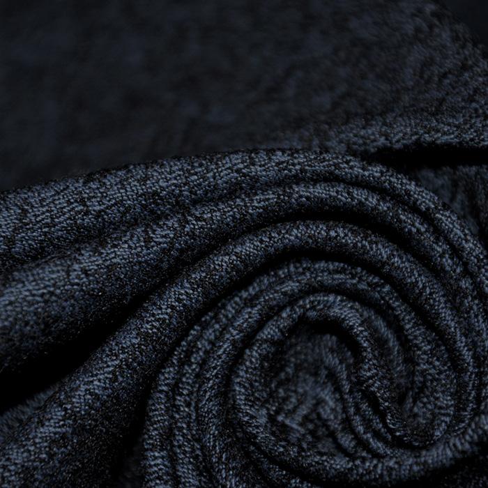 Tkanina, elastična, žakard, 19723-008, temno modra