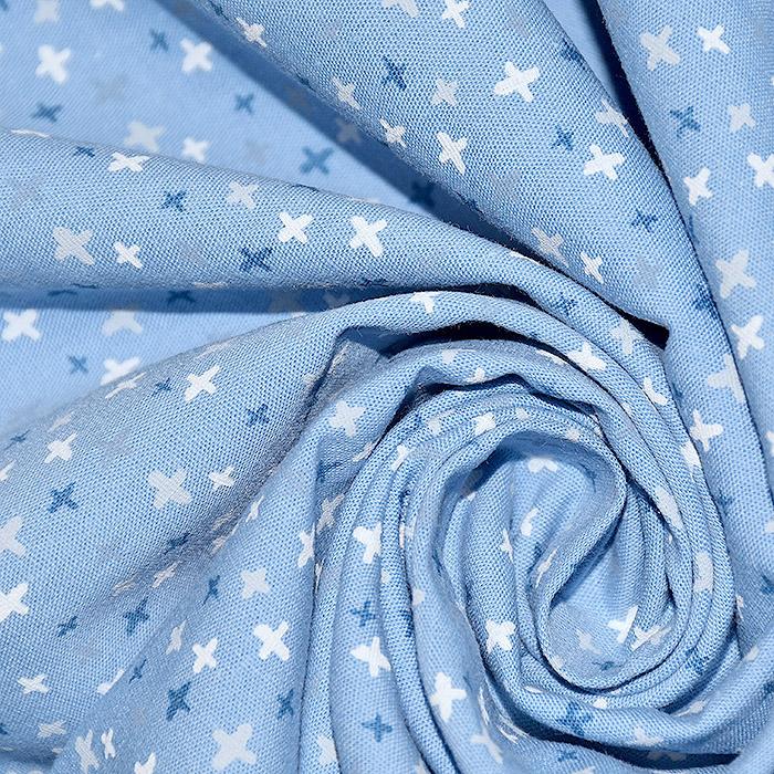 Bombaž, poplin, geometrija, 20089-003, modra