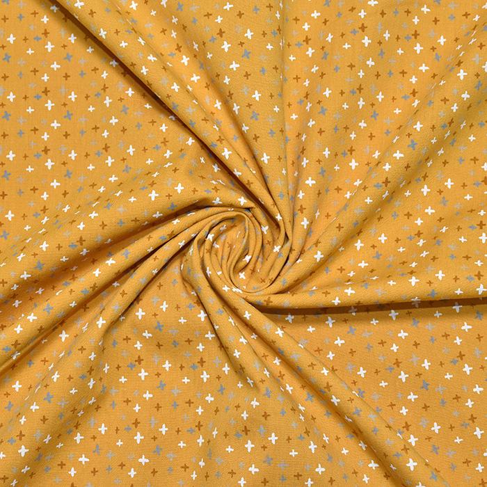 Pamuk, popelin, geometrija, 20089-034, žuta