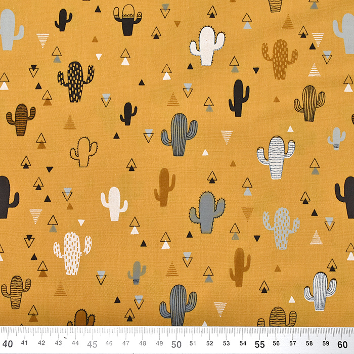 Baumwolle, Popeline, Natur, 20092-034, gelb