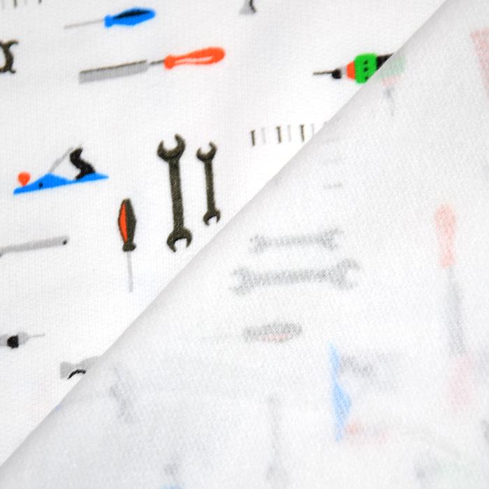 Prevešanka, kosmatena, otroški, 20102-001, bela