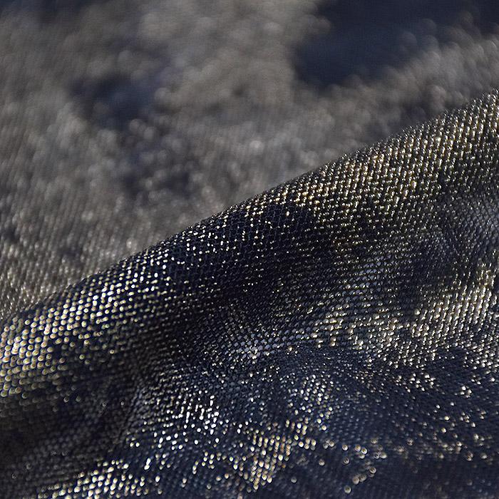 Mreža elastična, poliester, 20144-24, črno zlata