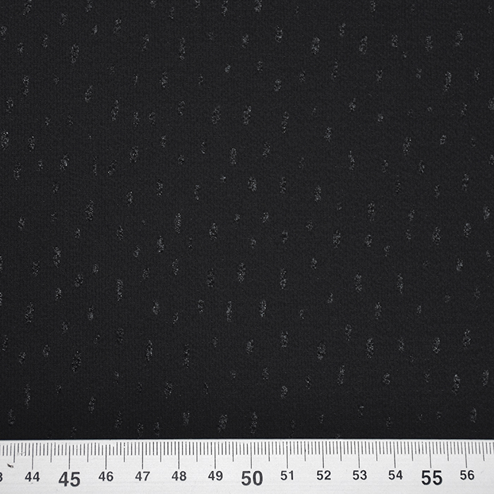 Šifon krep, pike, 20169-996, črna
