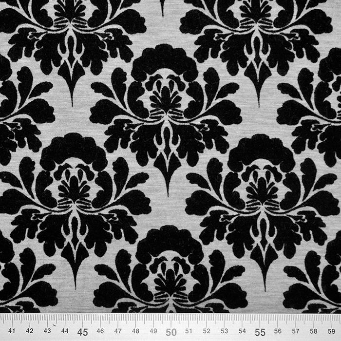 Pletivo, scuba, baročni, 20155-24, siva