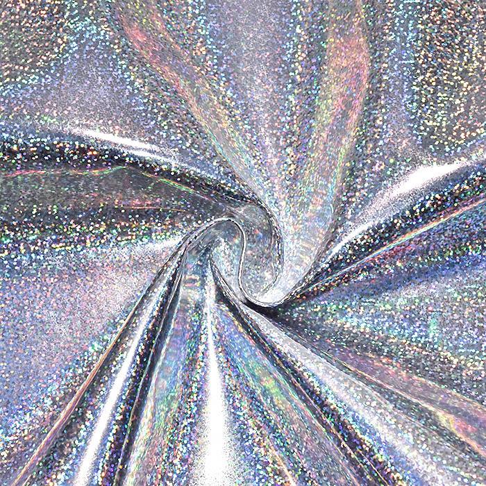 Umetno usnje Shine, hologramski, 20171-1, srebrna