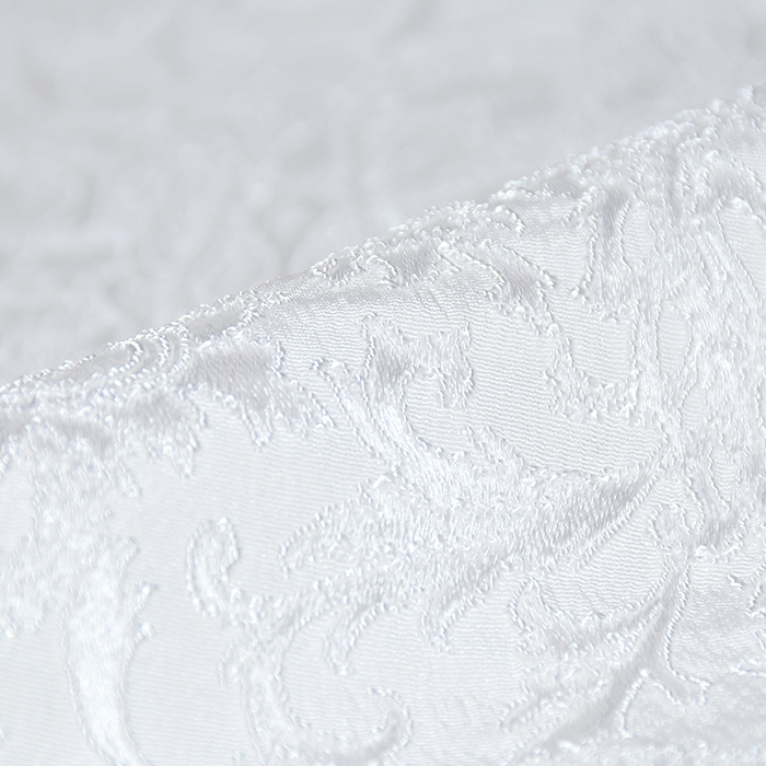 Žakard, obojestranski, ornamentni, 20130-1, bela
