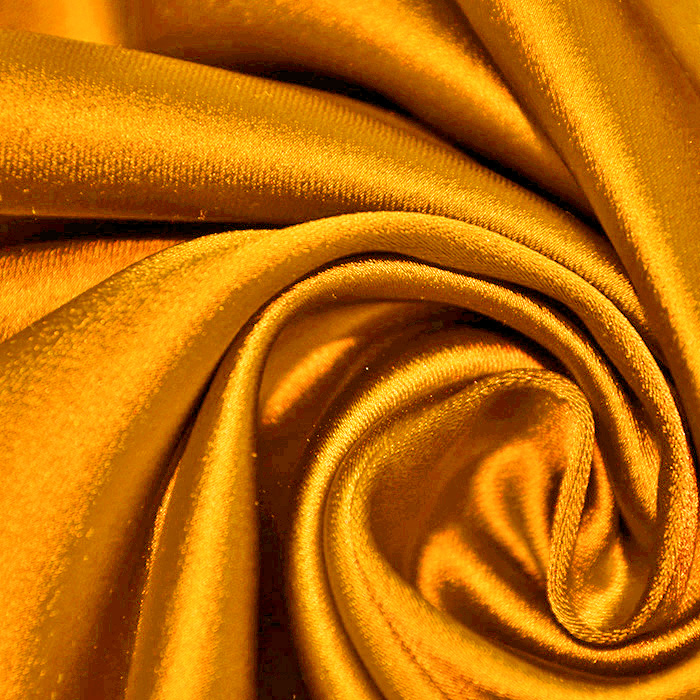 Saten tkanina z elastanom, 17508-54, oranžna