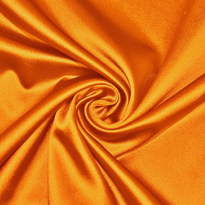 Saten tkanina z elastanom, 17508-58, oranžna