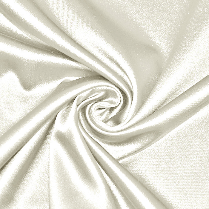Saten tkanina z elastanom, 17508-59, smetana