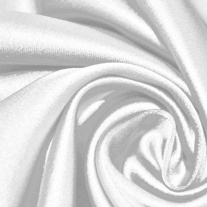 Saten tkanina z elastanom, 17508-513, bela