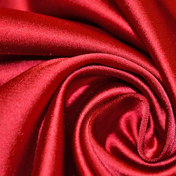 Saten tkanina z elastanom, 17508-515, rdeča