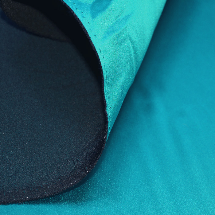 Saten tkanina z elastanom, 17508-517, turkizna