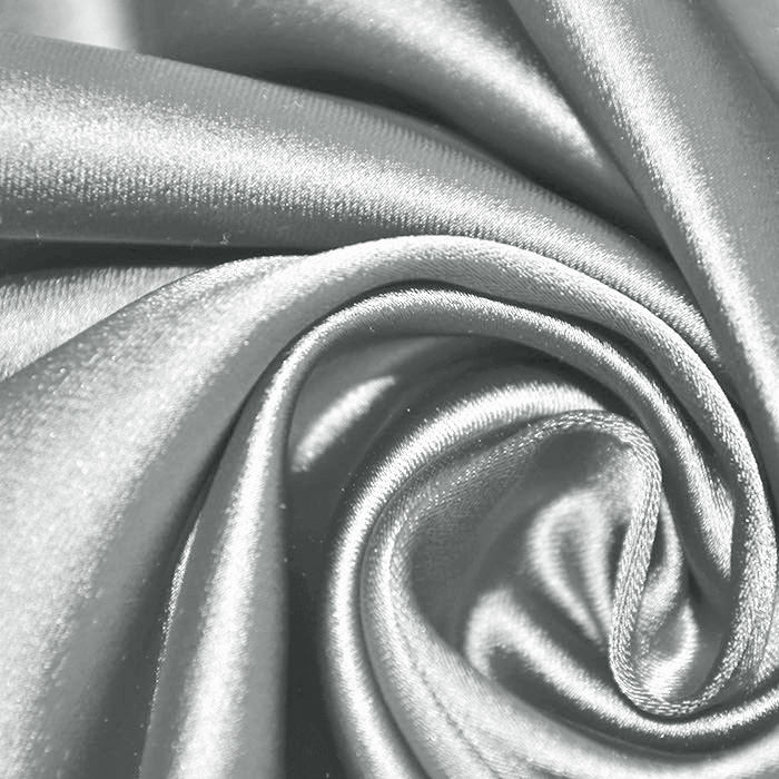 Saten tkanina z elastanom, 17508-518, siva