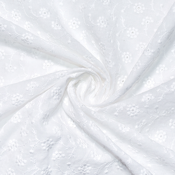 Pamuk, rišelje, cvjetni, 20188-7, bijela
