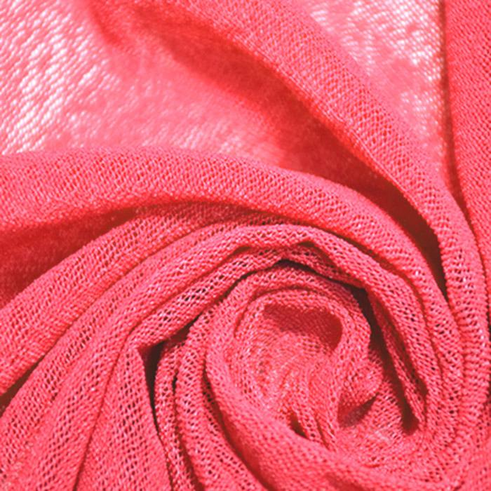 Mreža elastična, poliamid, 18999-11, koralno rdeča