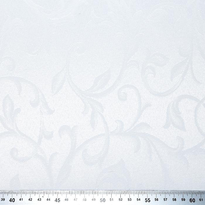 Damast, cvetlični, 20213-2, bela