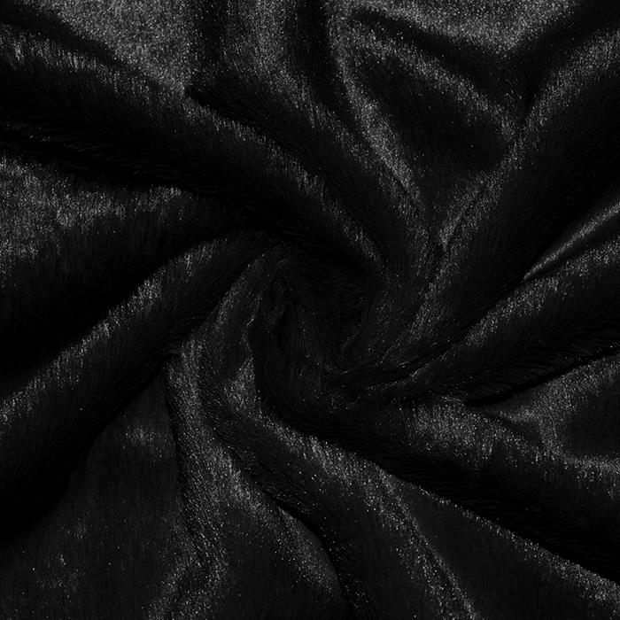 Umetno krzno, kratkodlako, 20224-069, črna