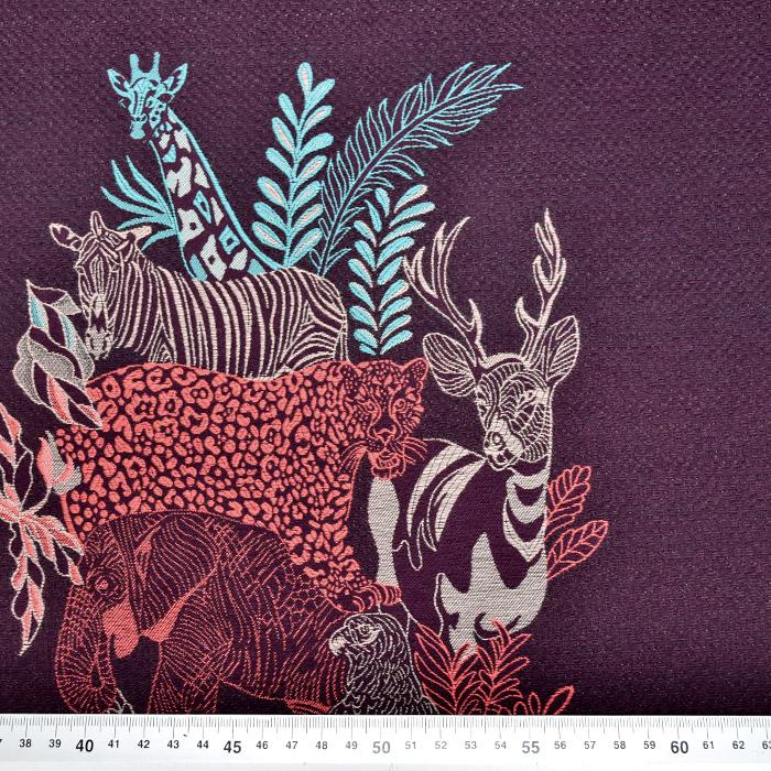 Žakard, živalski, 20305-3, vijola