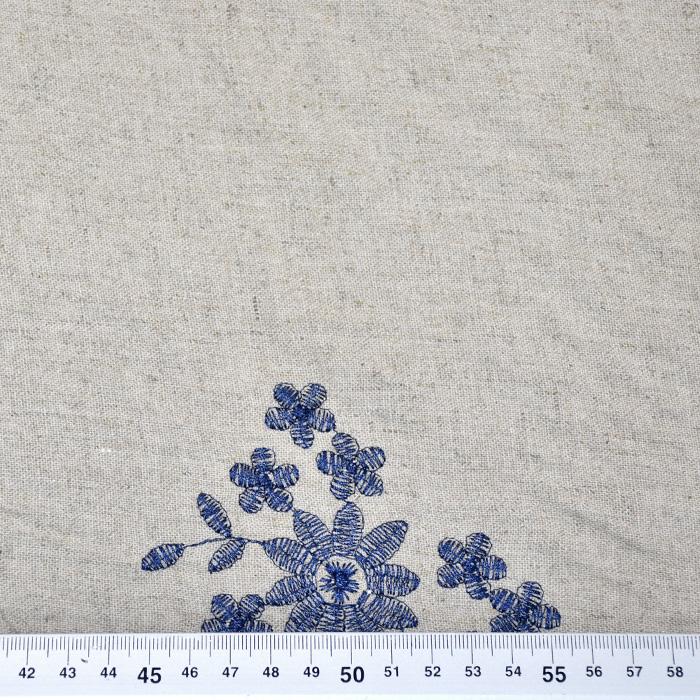 Lan, viskoza, vezenina, 20384-001, modra