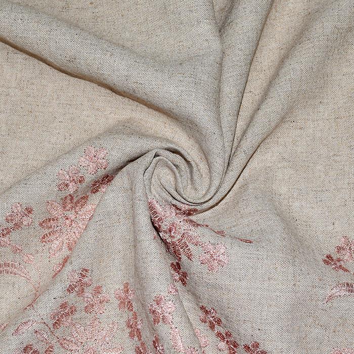 Lan, viskoza, vezenina, 20384-002, roza
